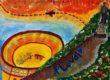 """Изложба """"Заедно можем повече"""" на 11-годишна художничка и испански поет"""