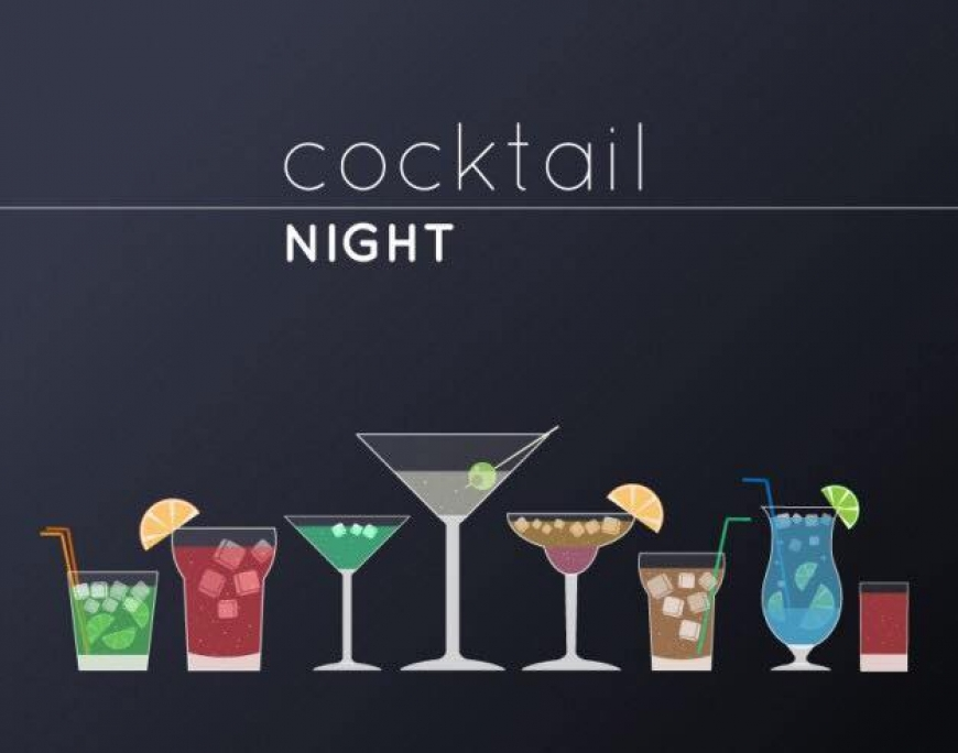 Cocktail Friday night with 90's music