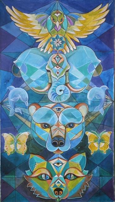 Художничката Гергана Табакова реди изложба и прави работлиница за за рисуване върху текстил